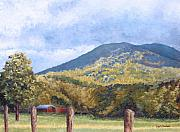 Tn Painting Prints - Horse Barn at Cades Cove Print by Todd A Blanchard
