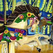 Debbie Brown Prints - Horse Carousel  Print by Debbie Brown