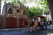 Old Houses Metal Prints - Horse Carriage at Kings Street Metal Print by Susanne Van Hulst