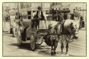 Drawn Prints - Horse Drawn Carriage Print by David Patterson