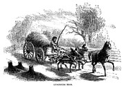 Drawn Prints - Horse-drawn Cart, 1856 Print by Granger