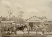 Post-civil War Prints - Horse-drawn Ice Wagon And Workers Print by Everett