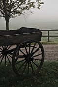 Wagon Wheels Photos - Horse Drawn In The Mist by Odd Jeppesen