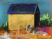 New Art Pastels Prints - Horse Farm Barn Print by John  Williams