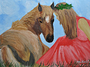 Michael Lee Metal Prints - Horse Goddess Metal Print by Michael Lee