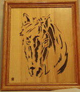 Scroll Saw Posters - Horse Head Poster by Russell Ellingsworth