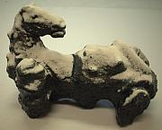 Winter Ceramics - Horse in the snow by Dimitri Lazaroff