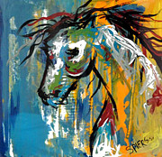 Torn Painting Framed Prints - Horse of a Different Color Framed Print by Amanda  Sanford