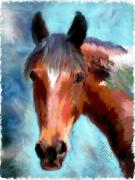 Digital Posters Mixed Media - Horse of Another Color by Colleen Taylor