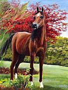 Horse Portrait Print by Eileen  Fong
