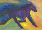 Color Purple Pastels Posters - Horse Power by jrr Poster by First Star Art
