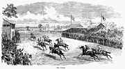Spectator Prints - Horse Racing, 1870 Print by Granger
