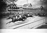 Spectator Prints - Horse Racing, 1889 Print by Granger