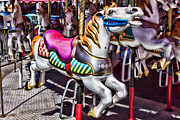 Carrousels Prints - Horse ride Print by Garry Gay