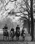 Four People Posters - Horse Riding Poster by Derek Berwin