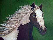 Running Horses Paintings - Horse run by Nick Gustafson