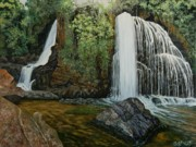 Mpumalanga Paintings - Horse Shoe Falls   by Caroline Street