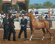 Scottsdale Drawings - Horse Show by Joanna Franke