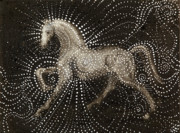 Stallion Paintings - Horse by Sophy White