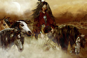 Spirit Guides Digital Art - Horse Spirit Guides by Shanina Conway