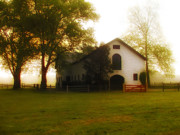Barn Digital Art Prints - Horse Stable at Widener Farms Print by Bill Cannon