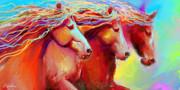 Horse Stampede Painting Print by Svetlana Novikova