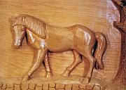 Carving Reliefs - Horse walk  by Majid Banimahd