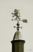 Weathervane Digital Art Prints - Horse Weathervane In Sepia Print by Ben and Raisa Gertsberg
