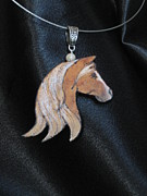 Horse Necklace Jewelry - Horsehead 3 W15 by Barbara  Prestridge