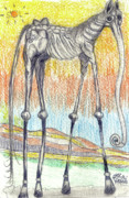 Neo Surrealism Prints - Horsephant Print by Robert Wolverton Jr