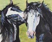 Melody Perez Metal Prints - HorsePlay Metal Print by Melody Perez