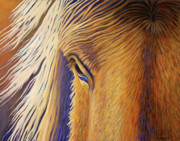 Wild Horse Paintings - Horsepower by Brian  Commerford