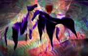 Energy Pastels Metal Prints - Horses 13 Metal Print by Helene Kippert