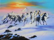 Jim Warren - Horses in the Snow
