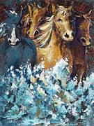 Fast Painting Originals - Horses by Mary DuCharme