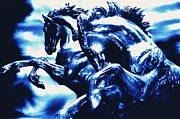 Equine Sculpture Photo Prints - Horses Of Helios Print by JAMART Photography