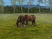 Arkansas Paintings - Horses of Romance by Mary Ann King