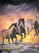 Horses Print by Usha Rai
