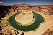 Deep River Art - Horseshoe Bend On Colorado River by Terry Moore