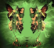 Shoe Digital Art - Horseshoe Fairy twins by Michelle Frizzell-Thompson