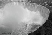 Niagra Falls Digital Art - Horseshoe Falls Black and White by DigiArt Diaries by Vicky Browning