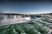 Niagara Falls Photos - Horseshoe Waterfalls At Niagara Falls by Busà Photography