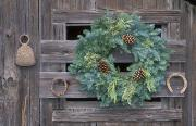Horseshoes Prints - Horseshoes And Holiday Wreath On Arroyo Print by Rich Reid