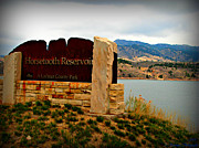 Horsetooth Mountain Posters - Horsetooth Peak above the Reservoir Poster by Aaron Burrows