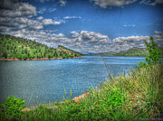 Horsetooth Reservoir Art - Horsetooth Reservoir Summer HDR by Aaron Burrows