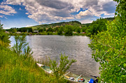 Horsetooth Framed Prints - Horsetooth Reservoir Summer Scene Framed Print by Harry Strharsky