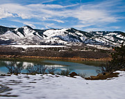 Horsetooth Framed Prints - Horsetooth Reservoir Winter Scene Framed Print by Harry Strharsky