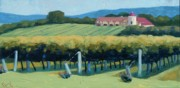 Cognac Art Framed Prints - Horton Vineyards Framed Print by Christopher Mize