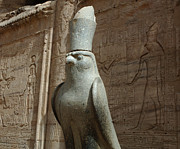 Horus The Falcon At Edfu Print by Bob Christopher