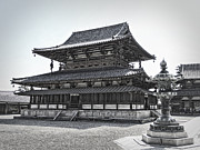 Horyu-ji Prints - Horyu-ji Temple Golden Hall - Nara Japan Print by Daniel Hagerman
